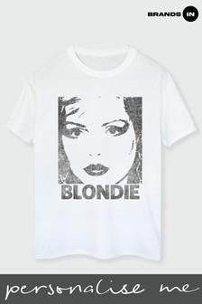 Brands In White Blondie Face Women White Boyfriend Fit T-Shirt