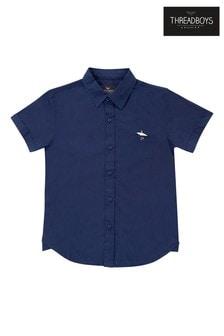 Threadboys Navy Dane Short Sleeve Shirt