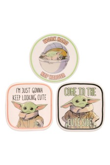 Peers Hardy Multi Disney Star Wars The Mandalorian The Child 3pc Ceramic Gift Mini Trinket Tray Set