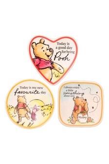 Peers Hardy Multi Disney Winnie the Pooh 3pc Ceramic Gift  Mini Trinket Tray set