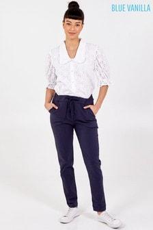Blue Vanilla Navy Magic Smart Non-Crush Trouser