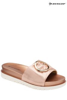 Dunlop Rose Gold Ladies' Slip-On Mule Sandals