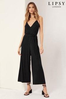 Lipsy Black Strappy Jumpsuit