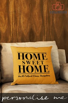 Personalised Home Sweet Home Cushion by Instajunction