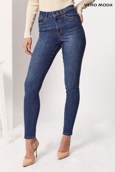Vero Moda Medium Blue Denim Regular Sophia High Waist Skinny Fit Jeans