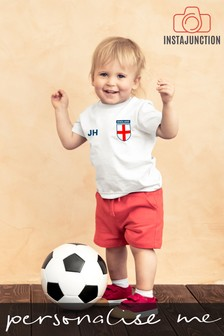 Personalised England Football Supporter Baby T-Shirt by Instajunction