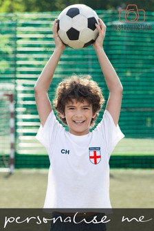 Personalised England Football Supporter Kid's T-Shirt by Instajunction