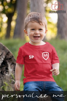 Personalised Wales Football Supporter Baby T-Shirt by Instajunction