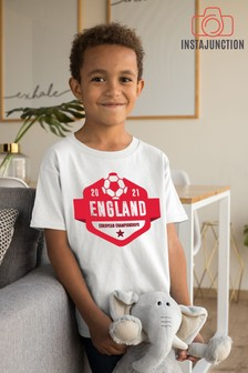 Instajunction White England Football Euros Supporter Kid's T-Shirt