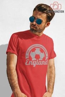 Instajunction Red England Football Championship Euros Supporter Men's T-Shirt