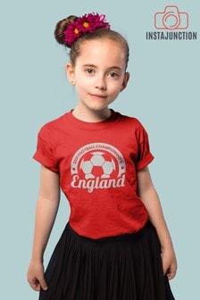 Instajunction Red England Football Championship Euros Supporter Kid's T-Shirt