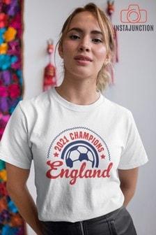 Instajunction White Scotland Football Championship Euros Supporter Trophy Women's T-Shirt