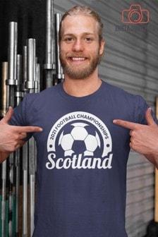 Instajunction Blue Scotland Football Championship Euros Supporter Men's T-Shirt