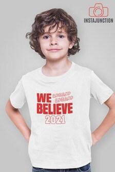 Instajunction Blue Scotland Football Championship Euros Supporter Kid's T-Shirt