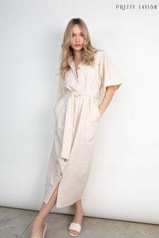 Pretty Lavish Grey Mabel Shirt Dress