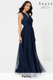 Anaya With Love Navy Petite Bow Back Wide Strap Maxi Dress