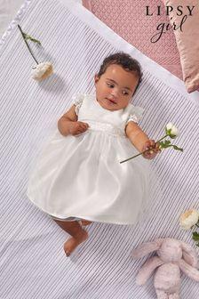 Lipsy Ivory Lace Baby Flower Girl Dress