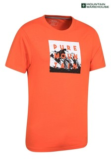 Mountain Warehouse Orange Mens 100% Organic Cotton Lightweight T-Shirt