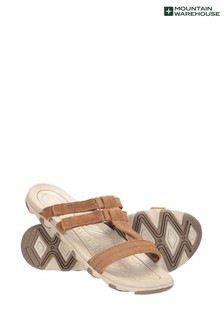 Mountain Warehouse Brown Cruise Womens Leather Walking Sandals