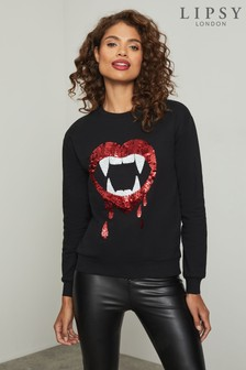 Lipsy Black Halloween Sweatshirt