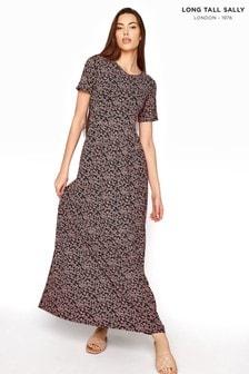 Long Tall Sally Black Ditsy Floral Midaxi Dress