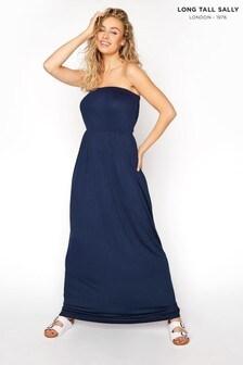 Long Tall Sally Blue Strapless Maxi Dress