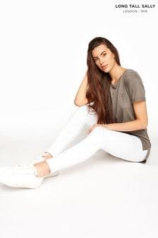Long Tall Sally White Organic Cotton Legging