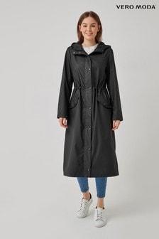 Vero Moda Black Shower Resistant Rain Jacket