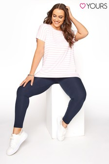Yours Blue Recycled VE Leggings
