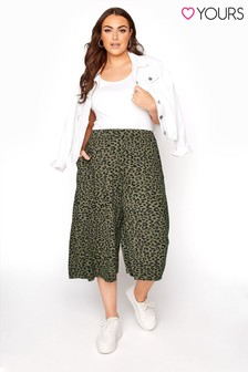 Yours Green Leopard Culotte