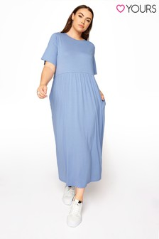 Yours Blue Throw On T Shirt Dress