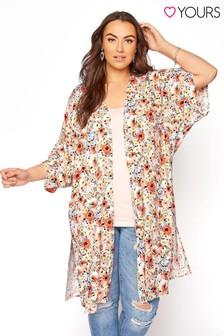 Yours Orange Ditsy Longline Kimono
