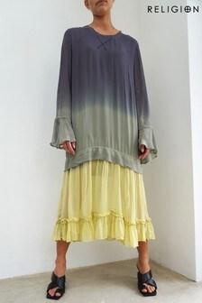 Religion Raw GreyLemon Grass Paradise Midi Dress