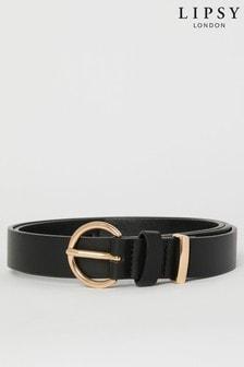 Lipsy Black Ring Belt