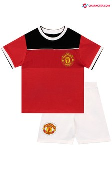 Character Red Manchester United Kids Football Kit Style Pyjamas