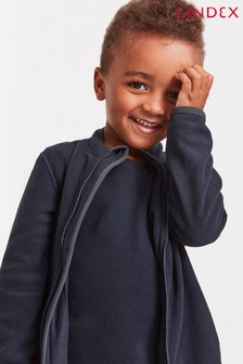 Lindex Blue Kids Fleece Jacket