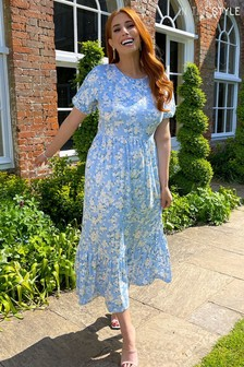 In The Style Blue Floral Stacey Solomon Maxi Dress