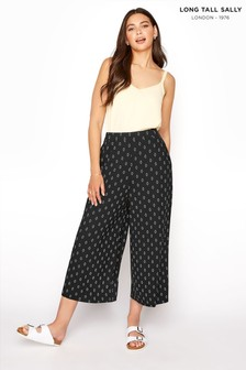 Long Tall Sally Black Diamond Printed Crop Trouser