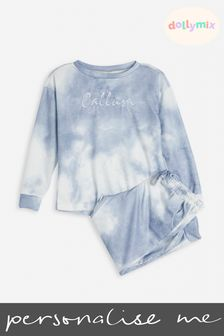 Personalised Kids Tie Dye Lounge Set by Dollymix