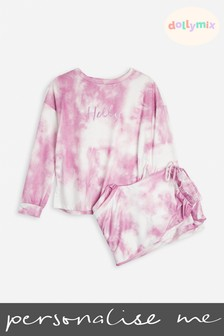 Personalised Adult Tie Dye Lounge Set by Dollymix