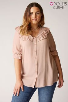 Yours Limited Pink Brooklyn Botton Front Blouse