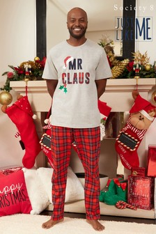 Society 8 Mr Claus Matching Family Christmas Short Sleeve Pyjama Set