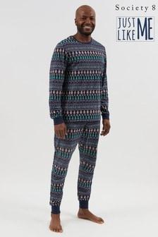 Society 8 Ho Ho Ho Print Matching Family Christmas Pyjama Set