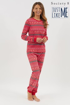 Society 8 Red Ho Ho Ho Print Matching Family Christmas Pyjama Set