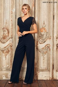 Sistaglam Black 2 In 1 Lace Jumpsuit