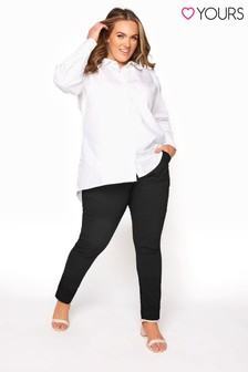 Yours Black Bengaline Stretch Trouser