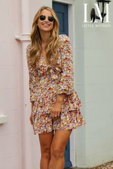 Little Mistress Multi By Vogue Williams Tiered Ruffle Mini Dress