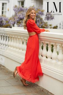 Little Mistress Red By Vogue Williams Red Cut Out Maxi Dress