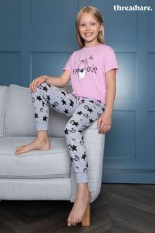 Threadgirls Pink Halloween Print Faboolous Short Sleeve Cotton Pyjama Set