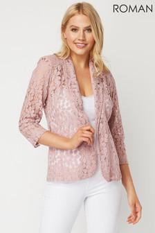 Roman Pink Petal Lace Jacket